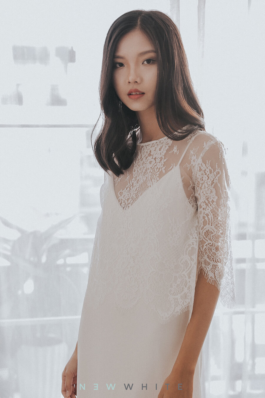 NW-026 - Flare Lace Top  _ NW-024 - Camisole Dress