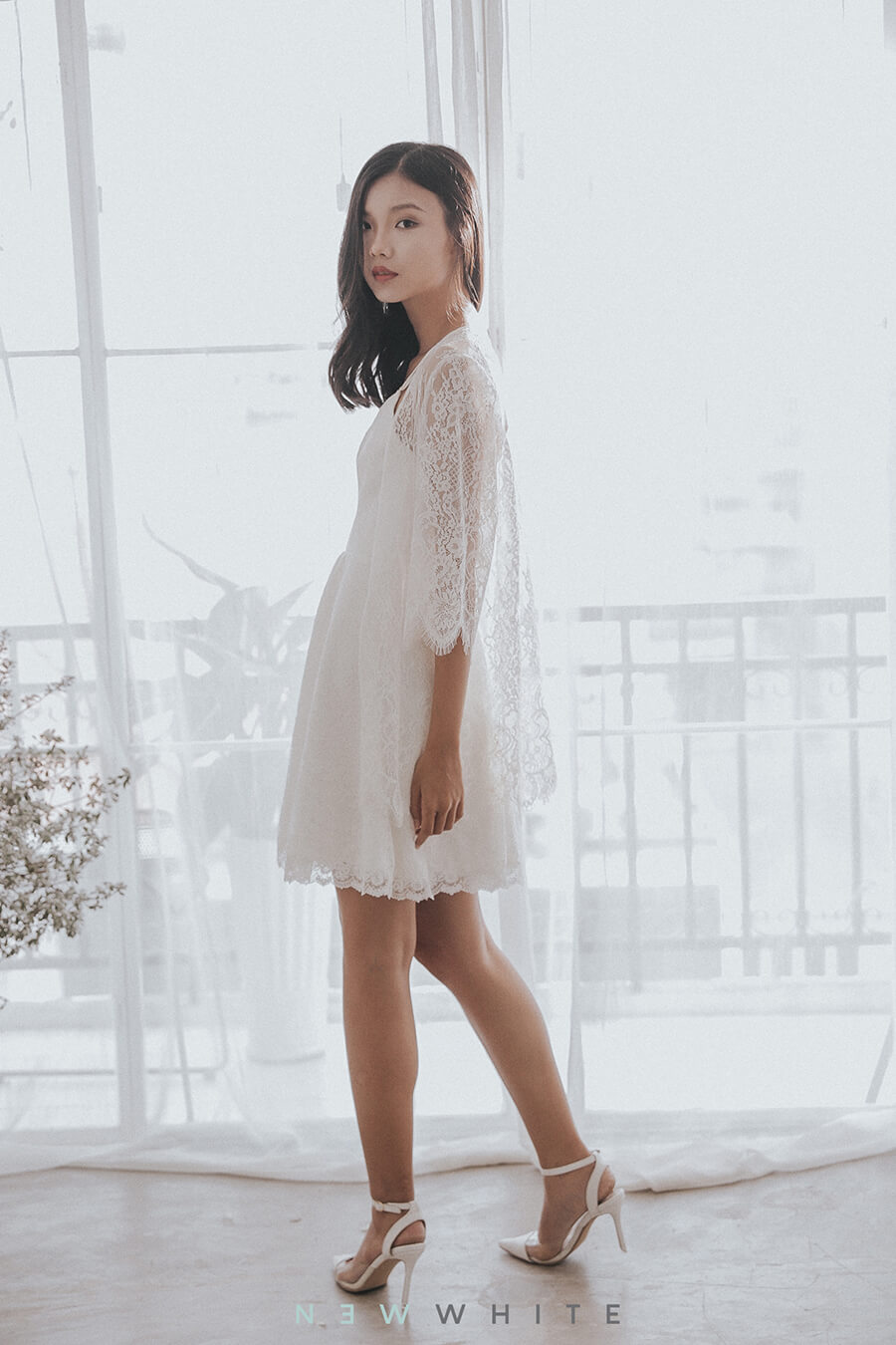 NW013 - Strappy Lace Sun Dress