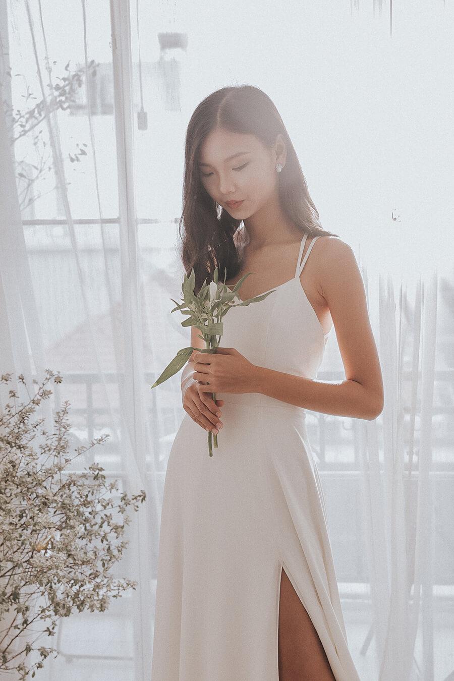 NW-017 - Strappy Chiffon Dress