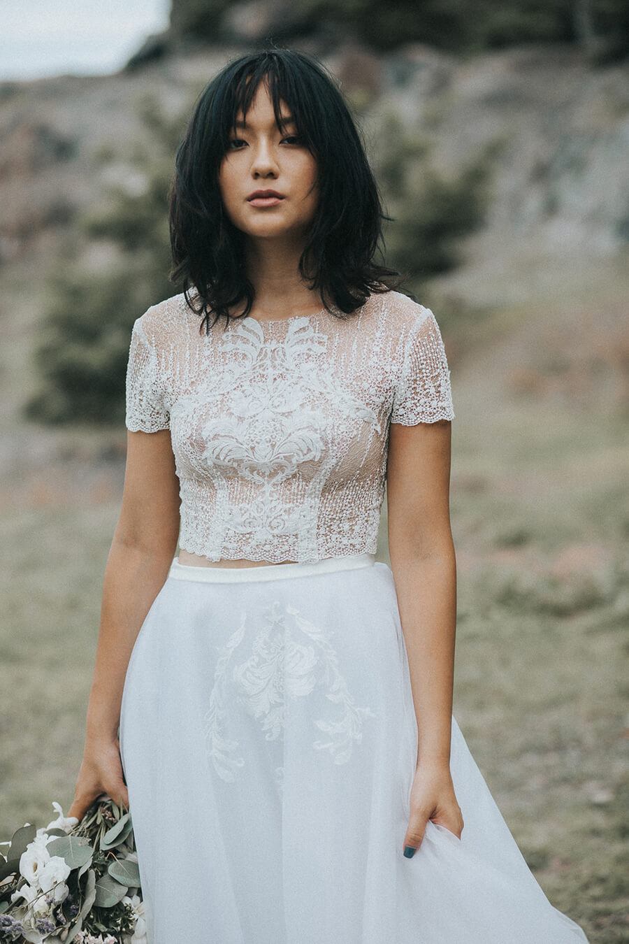 NW-031 - Annie Lace Top _ NW-032 - Allison Tulle Skirt