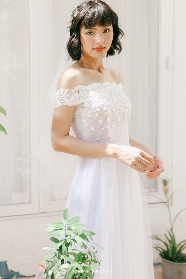 NW-106 | Drop-shoulder Floral Dress
