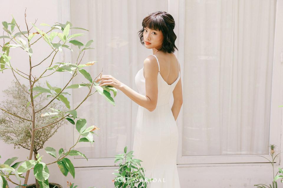 NW-117 | 3/4 Sleeve Lace Crop Top & NW-118 | Spaghetti Strap Mermaid Dress